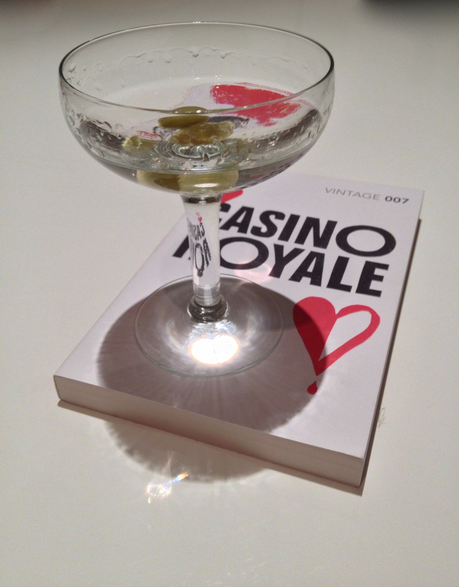 A classic bond flick is part of the recovery process.  So is a drink.  This is a Vesper Martini, cribbed from Casino Royale.  3 measures gin, 1 measure vodka, 1/2 measure Lillet Blanc.  Drink shaken. not stirred.  Obviously.