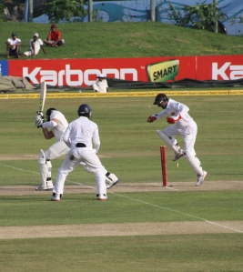 Howzat! World class cricket is usually on offer in Sri Lanka.  New Zealand gets thrashed in Galle.