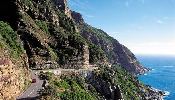 Chapman's Peak Drive.  Perhaps the most beautiful marine drive in the world.
