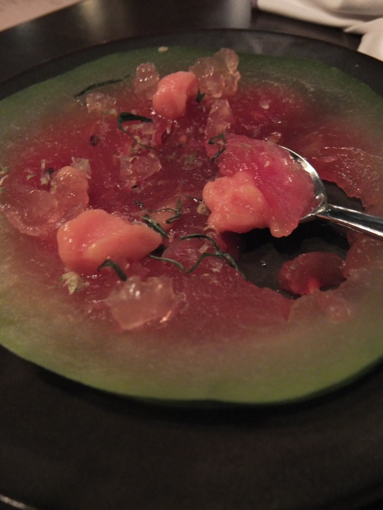 Sake, Campari, Watermelon.
