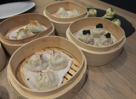 Dim Sum at Bo London.  Steak and Kidney with Avruga Caviar (top left) was a hit