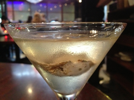 Dirty Oyster Martini at Tsuname